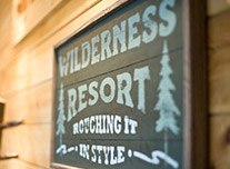 Wilderness resort sign